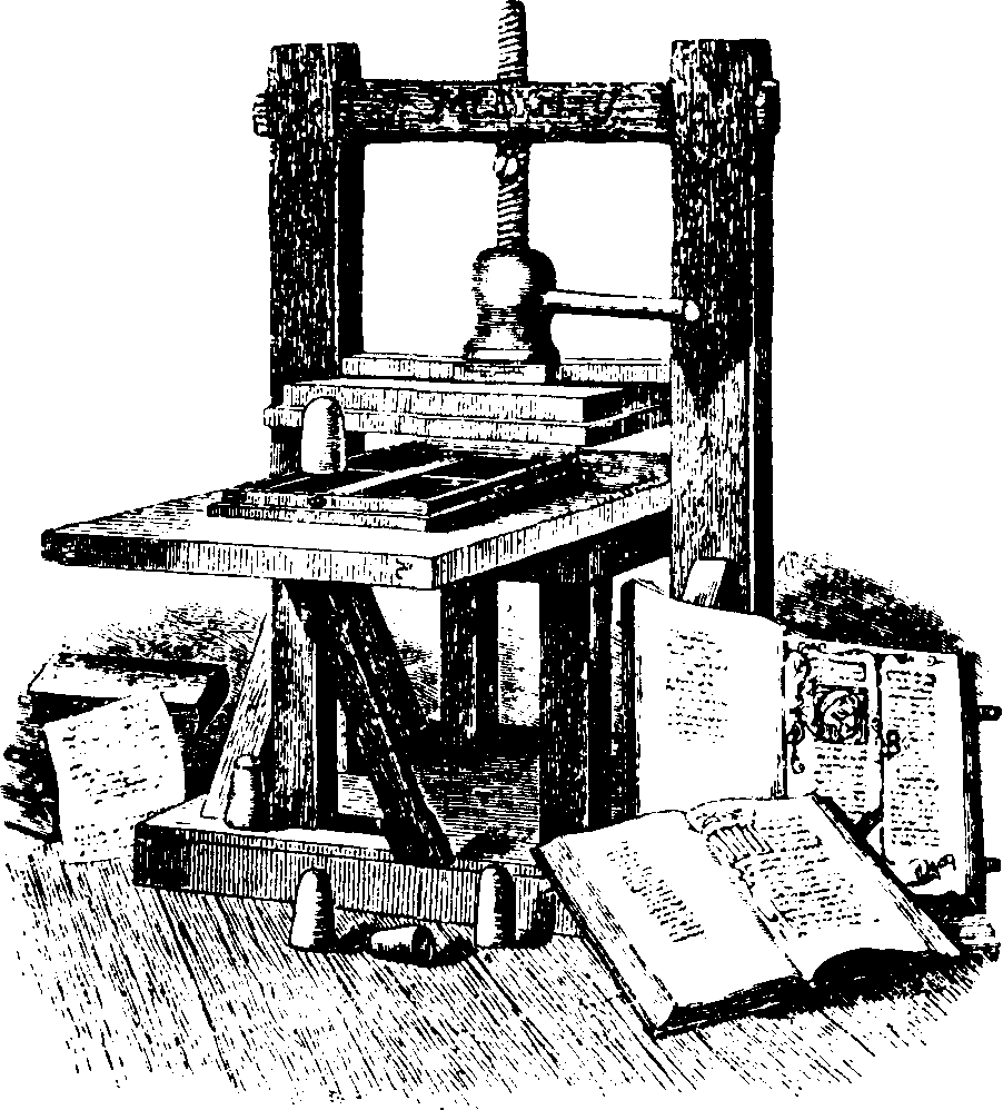 invention of the gutenberg press started the first information revolution Why famous: gutenberg invented the movable printing press, one of the most significant and consequential inventions in the history of mankind with this he started the printing revolution, and ordinary people could now gain access to information and knowledge usually reserved for the privileged.